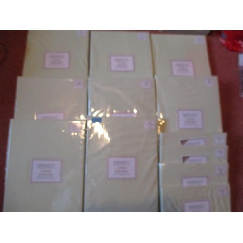 16 - A quantity of brand new Belledorm green cotton bedding, in packaging Location: LAM...