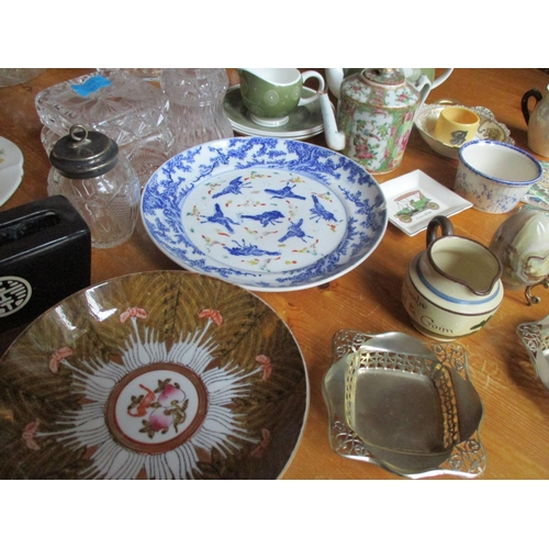 48 - Miscellaneous glassware together with oriental ceramics and a Susie Cooper part teaset Location: LWB...