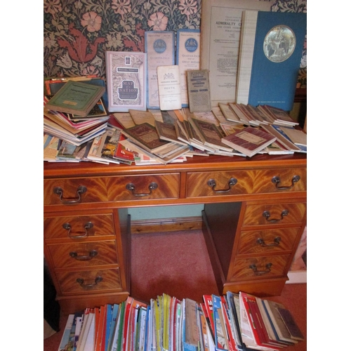 5 - A quantity of  miscellaneous OS maps and mixed ephemera to include 1953 Admiralty charts Location: L...