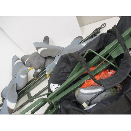 10 - Pigeon shooting related items to include decoys and pigeon magnets Location: G...