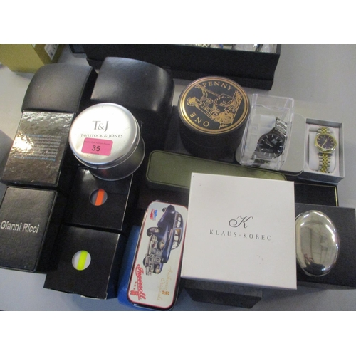 35 - Mixed boxed wristwatches to include Ice, Klaus-Kobec, Ingersol and others Location: 7:3...