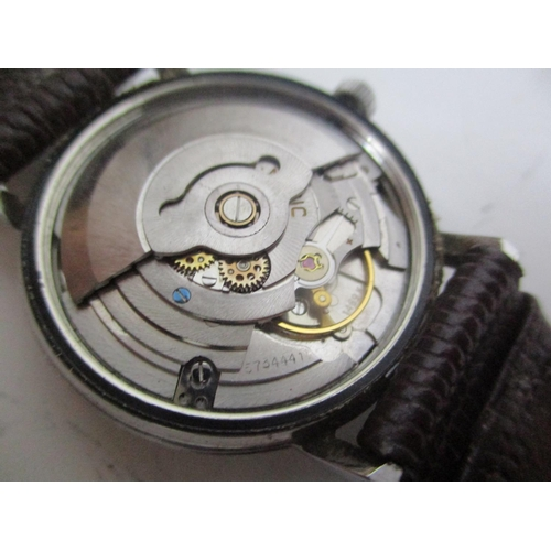 1 - An Eterna Matic 1000 gents, stainless steel, automatic wristwatch, having a silvered dial, baton mar...