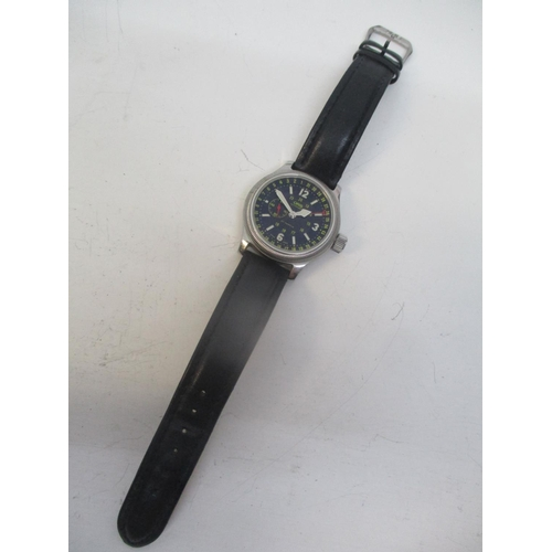 29 - An Oris Big Crown Pointer date gents stainless steel automatic wristwatch. The black dial having sub...