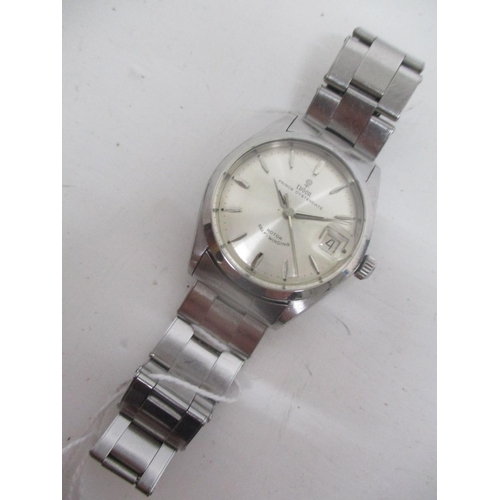 3 - A Tudor Prince Oyster date gents stainless steel automatic wristwatch, circa 1964.  The silvered dia...