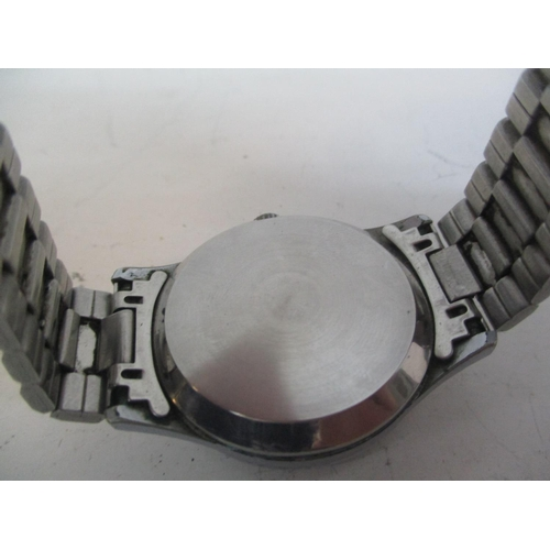 30 - A Sekonda USSR gents stainless steel, manual wind chronograph wristwatch. The black dial inscribed S...