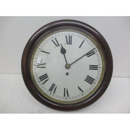 47 - A late 19th/early 20th century mahogany cased dial clock having a 12
