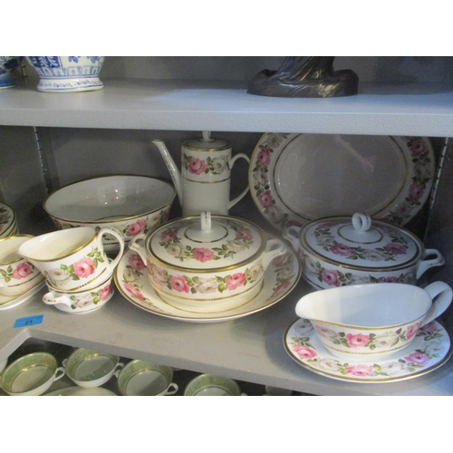 21 - A Royal Worcester 'Royal Garden' pattern dinner/coffee service Location: 10:3...