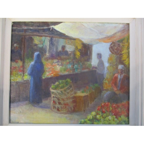 27 - Mixed pictures to include a watercolour still life by Sarah Cresswell, oil on board signed K Armitag...