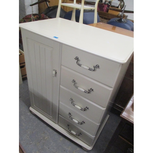 30 - A modern cream chest of drawers, together with a matching dressing table Location: G...