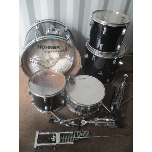 8 - A Hohner Percussion drum kit Location: RWF...
