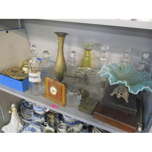 24 - A mixed lot to include decanters with enamel fronts, pocket Shakespeare books and other items Locati...