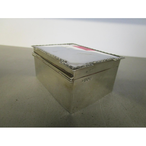 40 - William Comyns - an Edwardian silver box with red painted wooden lining, London 1906 and a silver ha...