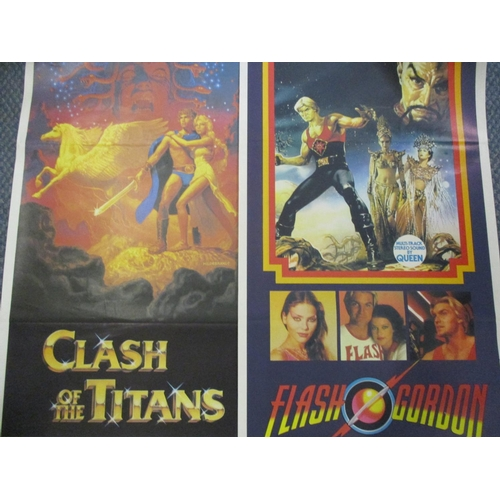 43 - A collection of 1980s and later well-known movie posters to include Flash Gordon, 71