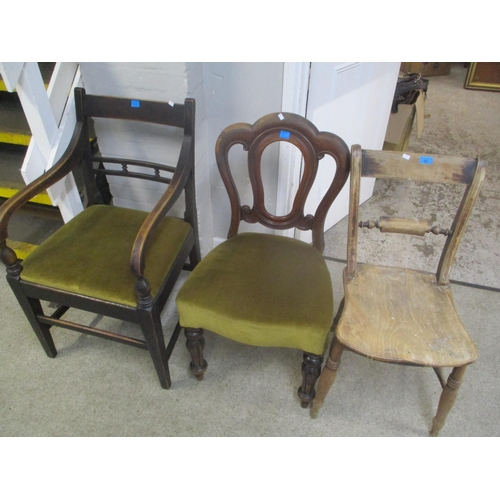 31 - A Georgian carver and two Victorian mahogany and beech chairs Location: C...