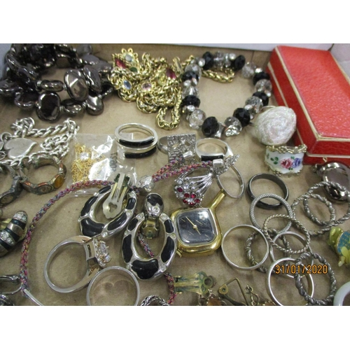 57 - Costume, silver and other jewellery to include earrings, necklaces, silver rings and other items Loc...