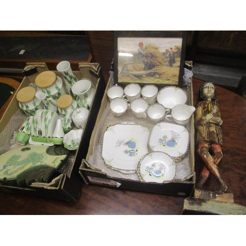 6 - A selection of Radford kitchen pottery, together with an early 20th century Kensington tea set, a ca...