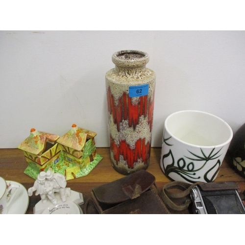 62 - A mixed lot comprising Poole pottery, cameras to include Kodak, crested china, an ashtray and other ...