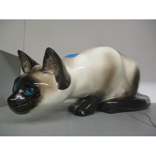 7 - A large Kensington cat ornament designed by Winstanley Location: G...
