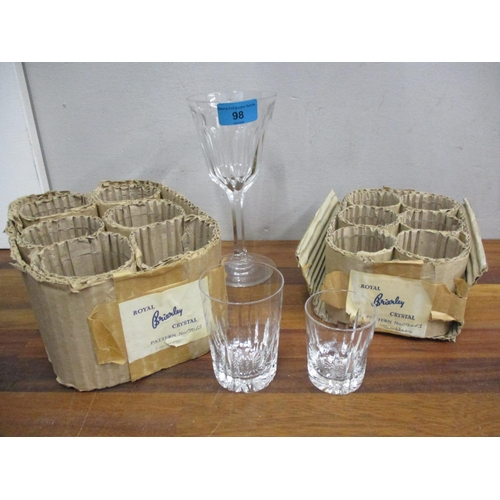 98 - Brierley glass tumblers and shot glasses, together with a facet wine glass Location: 1:5...