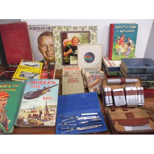 94 - Three 1940s Gun Buster novels, a 1940s Jack O'Brien novel, mixed books to include English Furniture,...
