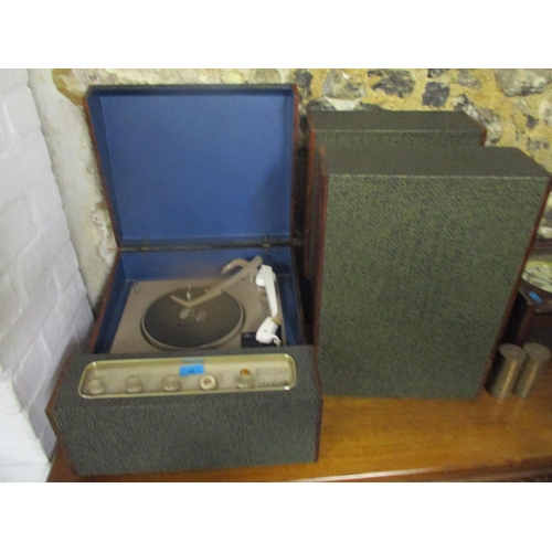 44 - A Reader's Digest, a Garrard record player in a rosewood case and matching speakers Location: G...
