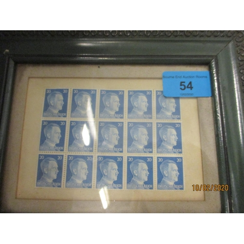 54 - A mixed lot to include, German Reich stamps glazed and framed, a quantity of brand new modern frames...