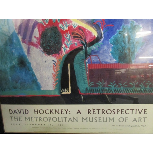101 - After David Hockney b1937 - Nichol's Canyon, circa 1988 for David Hockney, A Retrospective at Metrop...