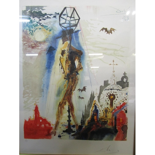 102 - Salvador Dali -Don Jose's Final Appearance The Bat Symbolizing, lithograph 83/125, signed and number...