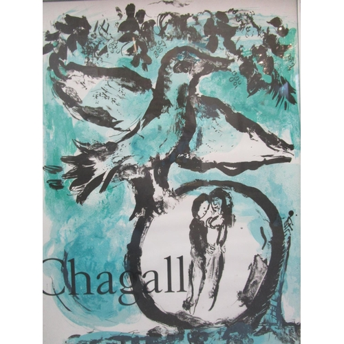 104 - After Marc Chagall (Russian-French 1887-1985) for Galerie Maeght L'Oiseau Vert', The Green Bird, a l...