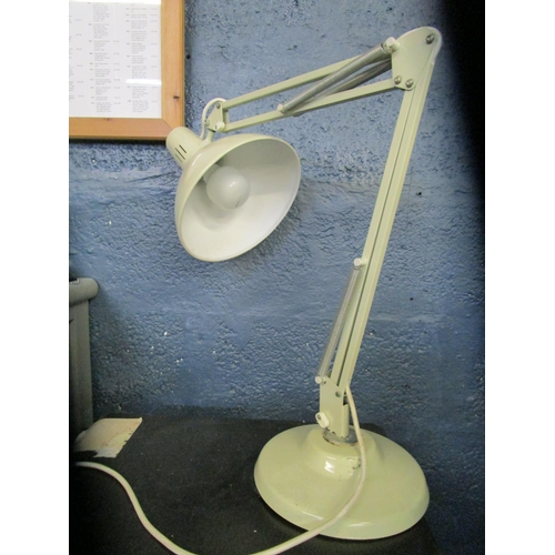 134 - Industrial design - Thousand and One Lamps Ltd (1001), white coloured anglepoise type lamp, label to...