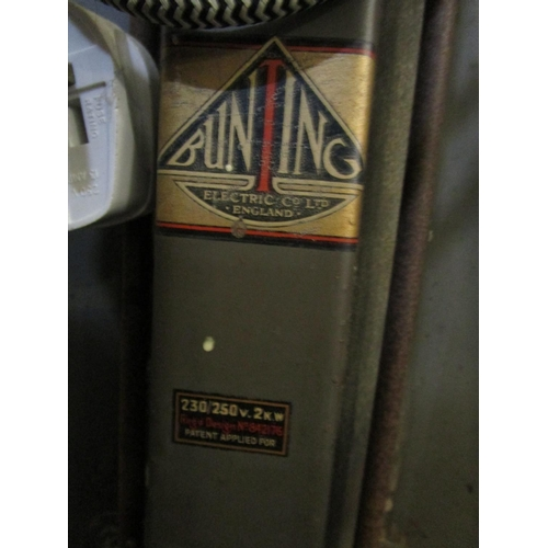 135 - Bunting Electric Company - a mid 20th century chrome and stainless steel novelty electric heater in ...