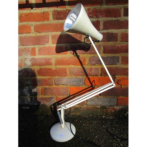 136 - Industrial design - a Herbert Terry & Sons anglepoise table lamp, model 75,  white painted with rock...