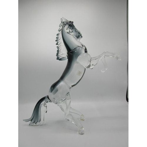 14 - After Oscar Zanetti b 1961 - for Fornace Mian, Formia 1962, Equus - contemporary glass horse sculptu...