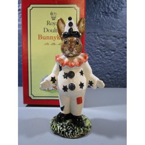 23 - A Royal Doulton Clown Bunnykins figurine, DB128, produced exclusively for UK1 Ceramics Ltd in a spec...