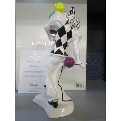 28 - Valerie Annand and Tom Mason for Royal Doulton - a matched set of four limited edition Balloon Clown...