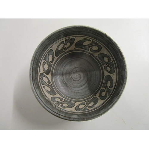 37 - Alan Caiger-Smith (b1930) for Aldermaston Pottery, a large lidded circular tureen decorated with a c...