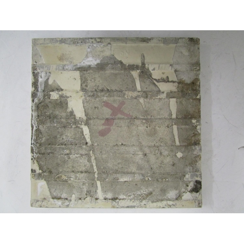 38 - A William de Morgan BBB design ruby lustre tile, unmarked, 6 1/8
