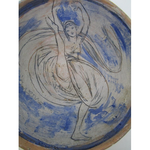 40 - Quentin Bell 1910-1996 - for Fulham Pottery, an earthenware pottery bowl decorated with an incised a...
