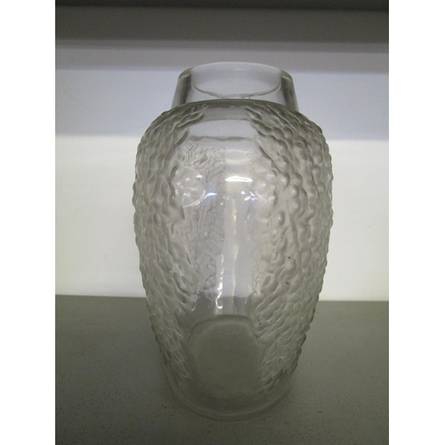 5 - Rene Lalique Poivre pattern glass vase, pepper seed decoration in clear and frosted glass, apparentl...