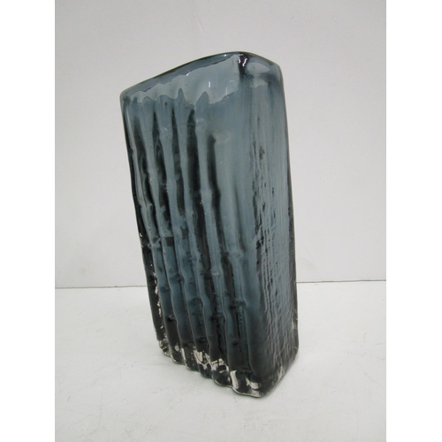7 - Geoffrey Baxter for Whitefriars Glass - a bamboo glass vase in Indigo colourway, design number 9869 ...