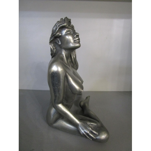 106 - Leigh Heppell - Summer Heat - a contemporary bonded bronze with pewter finish Erotic sculpture of a ...