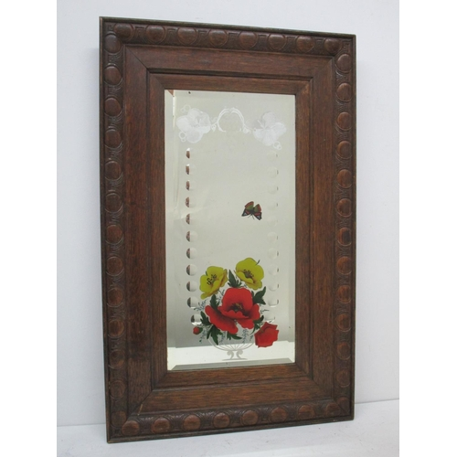 120 - W S Laurie's Glassworks, Wolverhampton - an early 20th century wooden framed mirror, the rectangular...