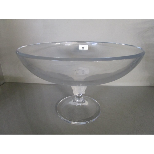18 - Versace for Rosenthal glass, a Medusa Lumiere footed bowl with shallow coupe bowl, 12 7/8