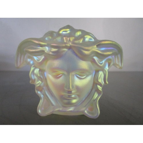 19 - Gianni Versace for Rosenthal Glass - a group of Medusa Lumiere crystal items to include an ashtray p...