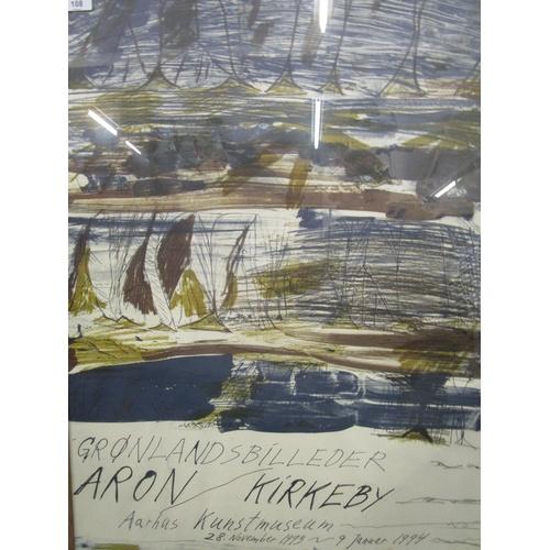 108 - Per Kirkeby 1938-2018, Danish - Exhibition poster from Aarhus Kunstmuseum Gronlandsbilleder circa 19...