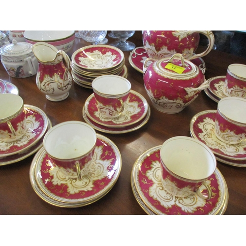 17 - A quantity of 19th century English and continental ceramics, together with mixed brandy balloons and...
