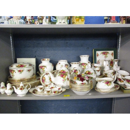 2 - Royal Albert Old Country Rose dinner and tea service Location: 7:2...