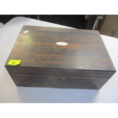 40 - A Georgian Coromandel writing box Location: 1:2...