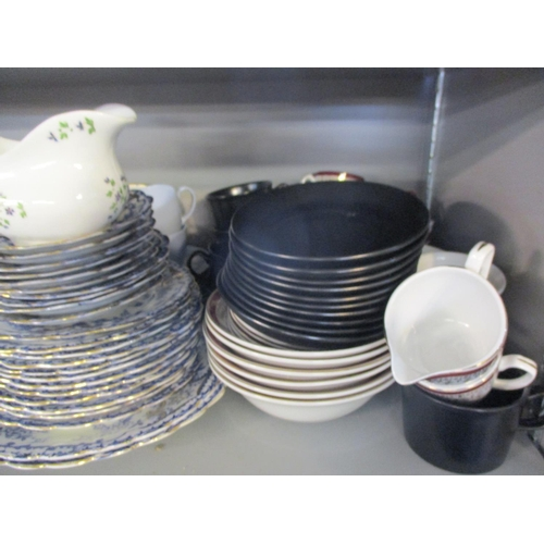 44 - A Spode English Lavender blue ground part tea set and others, together with ramekins Location: 8:2...