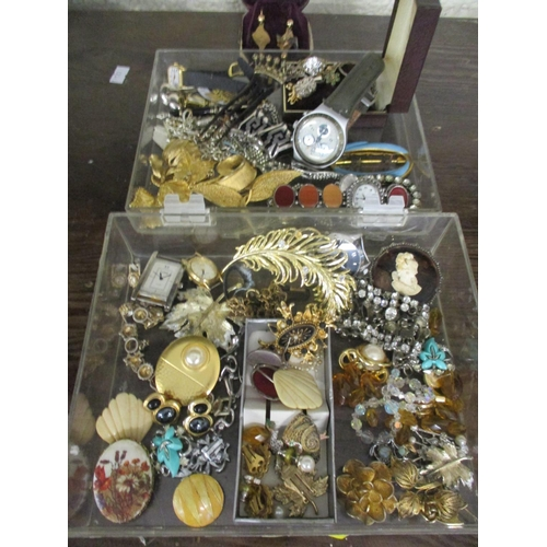 8 - Costume jewellery to include Mexican silver earrings, silver items and a pair of yellow metal earrin...